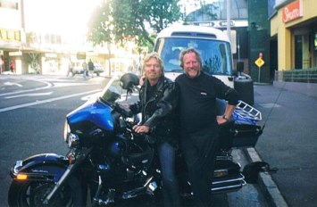 Alan with Richard Branson helping with Richard's charity in Sydney.