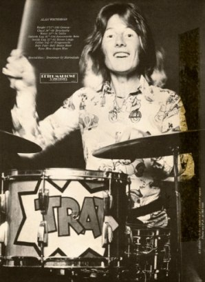 Alan in the 1960s at the height of his fame as the drummer in The Marmalade