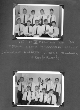 Upper 6th 1X - Drinking Team - 1965