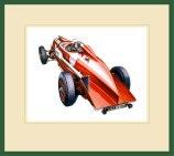Ken LLoyd - Bentley Illustration in frame