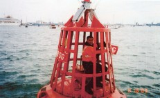 Mike Schmidt - 2003 - Busy making repairs whilst working for Port of Southampton.