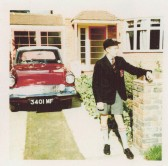 Mike Schmidt - September 1960 outside his parent's house in Bromley