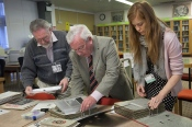 Rod Dengate , Norman Baldwin and Bromley Archivist Lucy Allen