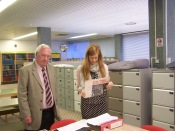 Rod Dengate and Bromley Archivist Lucy Allen