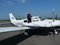 John Love about to take his pilot's Twin-Rating Examination