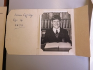 Young Adrian Appley – At 14 years old, displayed in the archive room along with his exercise books and school reports!