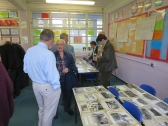 John Abrook (Chemistry Teacher 1958 - 1973) made a brief appearance in the afternoon in the Archive Display Rooms.