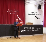 Rod delivers his excellent talk on the History of CVTHS