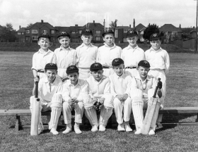 Founder members of the Junior Cricket X1 - 1955