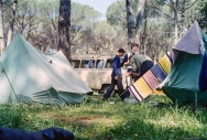 Camp site in Rome