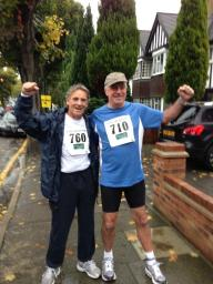 Jon Webber after finishing his 10,000 m run for charity.