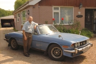 Kevin Saggers with his Triumph Stag