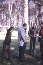 At the Pineta de Roma campsite Martin Carr is threatened while John Gale and 'Jack' Hayward watch their breakfast disappear!