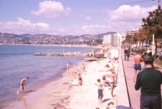 At last some sunshine on the French riviera, and the unmistakable profile of John Gale on the right.