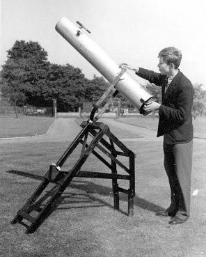 Sam Weller and his amazing telescope.