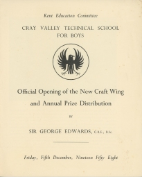 Opening of the New Craft Wing 1958