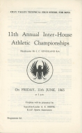11th Annual Inter-House Athletic Championships - 1965