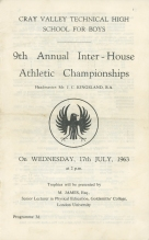 9th Annual Inter-House Athletic Championships - 1963