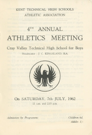 4th Annual Athletics Meeting - 1962