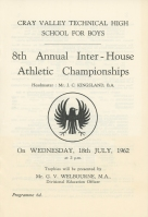 8th Annual Inter-House Athletic Championships - 1962
