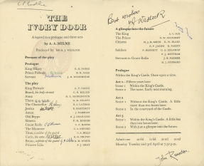 'The Ivory Door' Programme