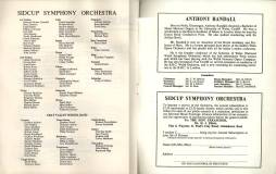 Elsewhere in the programme for 'Saturday Night is Music Night' is the list of the members of both the Sidcup Symphony Orchestra and the Cray Valley School Band. At least one person played in both.