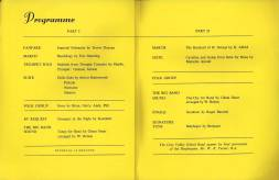 The detailed programme shows the major part played by the Band on 9th March 1971 at the Orpington Gateway Club's concert held at the Methodist Church, Orpington.