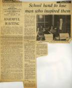 'School band to lose man who inspired them' is the headline of the Kentish Times on 6th December 1973 when they report about Peter Woodward leaving Cray Valley and moving to Sevenoaks School. Note also the editorial Leader which talks about the educational changes taking place in the Bromley Borough at that time.