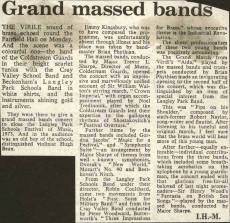 """The virile sound of brass echoed round the Fairfield Hall on Monday …"" The press report on the Grand Massed Bands Concert at the Fairfield Hall on April 2nd 1973."