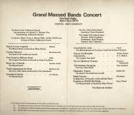 The event programme for the 2nd April 1973 Grand Massed Bands Concert shows the Band's repertoire at the Fairfield Halls, Croydon which includes their competition winning 'Three Impressions for Brass' and 'The Headless Horseman', as well as Massed Band performances with the Band of the Coldstream Guards.