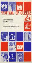 January 1973 and the Band again perform at the 'Festival of Queens' at Westminster Central Hall.