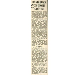 "The press report of the 1972 Christmas Concert talks of the ""eight-year old brass band"". ""The sound was at times mellow and at times rousing. But the audience seemed most enthusiastic about the encores"". The report goes on to talk about the Choir, under the direction of Mr Vignoles, now numbering about 50 and which performed the first half of Concert programme."