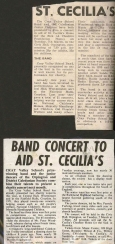 The local press give advance publicity for the forthcoming charity performance of the Band and the Caledonian Junior Dancers at the Civic Hall Orpington in March 1972 which was in aid of the Friends of St Celia's Home for the Sick.