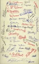 A further autographed copy from the second night performance of the July 1971 'Sounding Brass' programme, and includes Messrs Menhinick, Gould, Isom, Palmer, Hall and Thornhill - the Band's founder members.