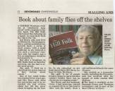 Iris Bryce, Jan Bryce's mum, is featured in the Sevenoaks Chronicle with her a book about bringing up a family in rural Kent from the '50s to the '70s.