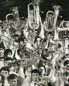 This is the Band photograph that featured in the 1970 Edition of 'The Rook' next to a report of the Massed Bands Concert.