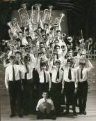 An outstanding picture of the members of the Band with their instruments. Was this used for the LP sleeve I wonder?