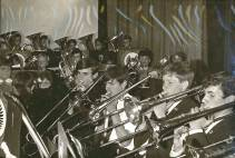 1969 – A further sectional photograph of the combined Band with the trombone section to the fore.