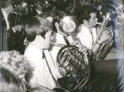 1969 - Aside from the gleaming brass instruments and performers shown here, note the Cray Valley and Ringmer Schools' different neckties.