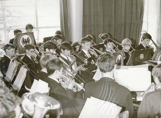 1969 – Another section of the Cray Valley and Ringmer combined Band perform.