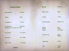The 1969 'Sounding Brass' programme shows the wide repertoire covered at the two concerts.