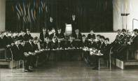 A picture of Band in the School assembly hall.