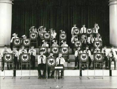 A splendid picture of the Band on the tiered staging in the School assembly hall. I am sure we all remember sitting on that staging during our 1st year at Cray. Perhaps this was taken during the Band's earlier years?