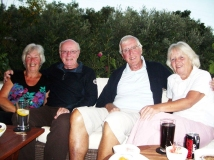This summer (2016) I met up with Rick Gillings (on left) at our home in Greece. I have known Rick since the stone age (1961). We left the 6th form in 1965 to pursue our careers. I hope the attached photo of us, with wives, is not too scary. Michael Mathews' father was Robert (Bob) Mathews - head of engineering