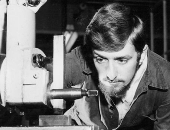 Michael Mathews as a student apprentice at GA Harvey - Charlton, 1966.