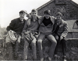 Roger harden, Michael Mathews, Ian Chalmers and Rick Gillings Mid 1960s, Youth Hostelling in Devon