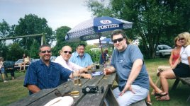 Reunion of some of class of 5M, 1968 Brian Coleman (me), Ken Clark, (deceased), Rob Shakespeare and Tony Fleet (now living on Vancouver island) at the Fighting Cocks, Horton Kirby Circa 2009
