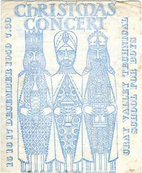 Christmas Concert 1959 Page 1